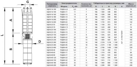 Насос 8-16-100 в разрезе