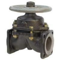 Клапан (вентиль) чугунный диафрагмовый футерованный фланцевый 15Ч74П, 15Ч75П, 15Ч76П в Краснодаре
